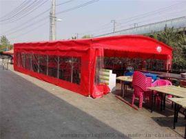 专业预订钢结构推拉雨篷夜宵库遮阳棚展销篷