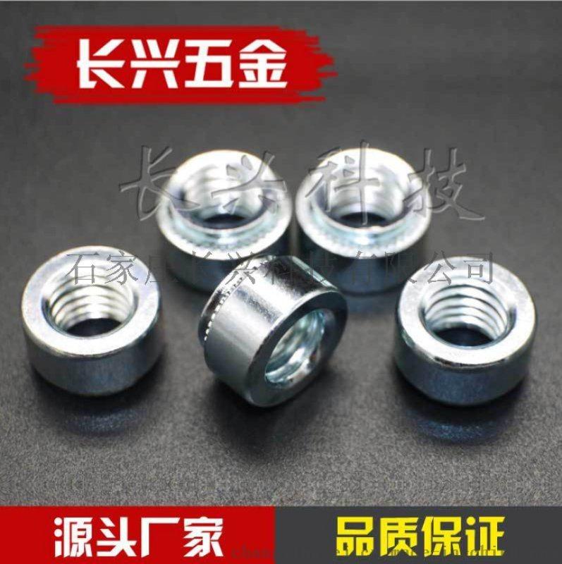 廠家直銷非標定製S壓板螺母環保藍白鋅
