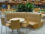 各式餐厅卡座沙发定做工厂PU环保皮沙发耐磨耐用卡座