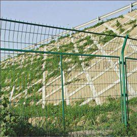 防攀爬铁丝防护网、鱼塘防护铁丝网、池塘铁丝网围栏