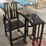 白色板鐵質審訊椅,白色板鐵質審訊椅,鐵質方形審訊用椅