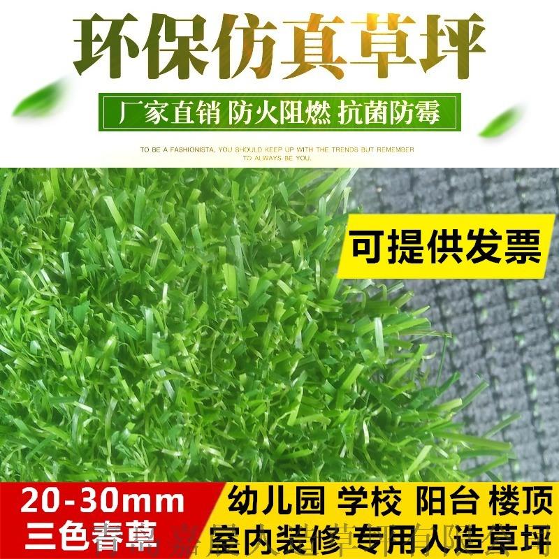 幼儿园人造草坪仿真草坪地毯塑料假草坪人工草皮厂家