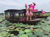 出售河北仙桃夢裏水鄉景區水面仿古高低蓬船搖櫓船