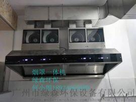 厨房油烟净化器除油烟专家不锈钢净化器一体机油烟净化器 净化器烟罩一体机烟罩一体机