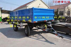 双轴拖拉机挂车 刹车形式可选择气刹或油刹 液压自卸可选后翻、左右自卸、三项自卸
