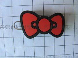 蝴蝶結軟膠拉片拉牌 服裝手袋PVC拉鏈頭拉手