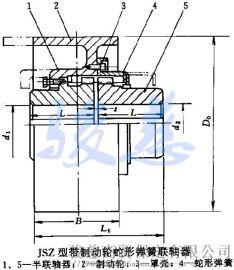 JSZ型 制动轮蛇形弹簧联轴器