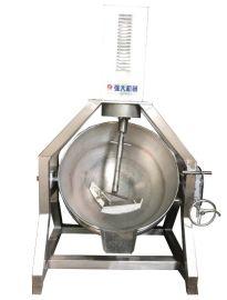 松籽炒锅夹层锅 干果搅拌式翻炒夹层锅 不锈钢夹层锅