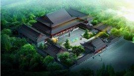 寺庙景观鸟瞰图设计