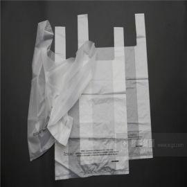大量供应柔软污染的全生物降解商超购物袋 绿色环保背心拎手袋