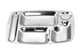 不锈钢快餐盘(6格/5格)