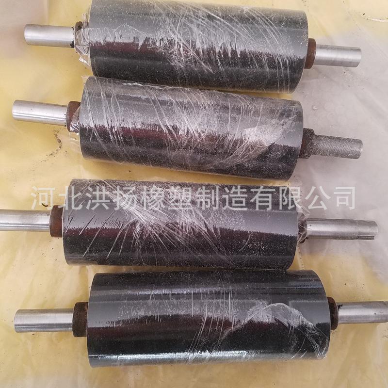 高耐磨橡胶胶轴 包胶胶辊 高弹耐磨橡胶辊轴
