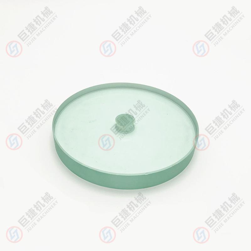 定制法兰视镜玻璃 不锈钢刮片玻璃 钢化玻离带刷 带刮片玻璃