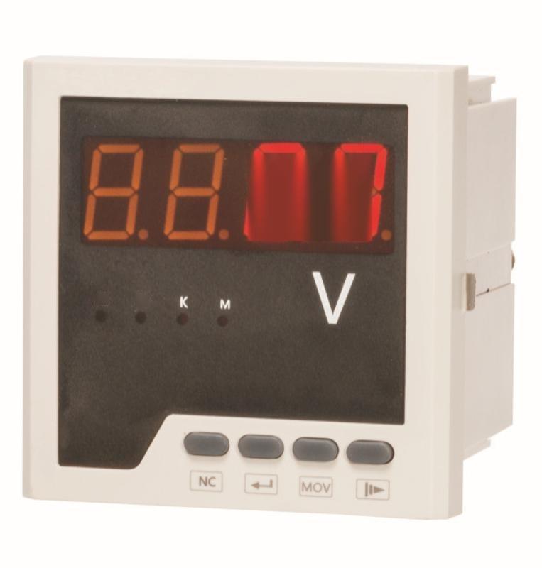 智能型单相电压表500V1A5A嵌入式配电柜专用电压表电压测量表特惠