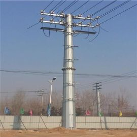 供应华兴钢杆—郑州10米10KV转角杆、终端杆、电力钢杆及电力杆基础,电力钢杆价格优惠
