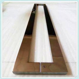 定制木門玻璃門酒店會所商場家用不鏽鋼拉手方管
