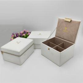 厂家直销礼品盒PU皮包中纤板礼品盒掀盖式礼品盒