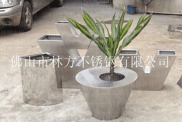 佛山专业不锈钢花盆加工,园林工艺花盆制作