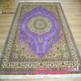 河南博斯1.68X2.44M手工真丝地毯