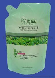 厂家直销广州上海深圳仿嘴假嘴自立液体包装袋洗衣液袋沐浴露袋