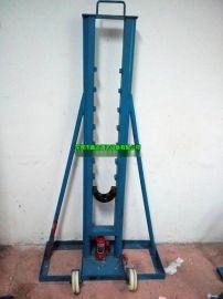 8吨液压梯形放线架,电缆线盘支架,千斤顶撑架,滚轮式放线架