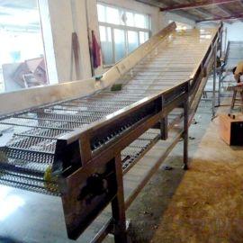 批发供应链板斜坡输送机  食品输送链板线