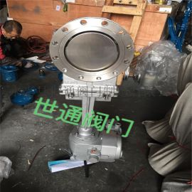 电动不锈钢刀型闸阀DN200硬密封刀闸阀