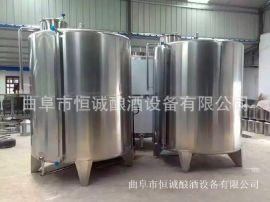 曲阜恒诚1吨2吨5吨10吨不锈钢储酒罐 立式加腿密封储存罐 发酵罐 特价