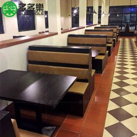 中餐厅茶餐厅餐桌椅家具定做 奶茶饮品店桌椅家具