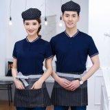員工作服餐飲餐廳飯店火鍋店酒店奶茶快餐店男女短袖t恤夏裝T