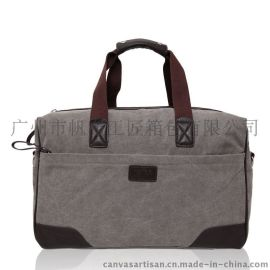 帆布派 新款帆布包男女单肩斜挎手提出差旅行包 大容量行李包