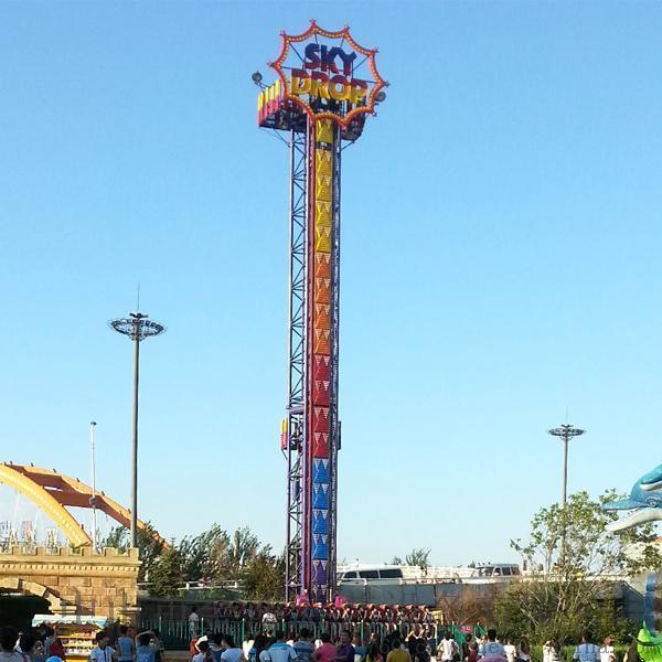 大型游乐场设备跳楼机