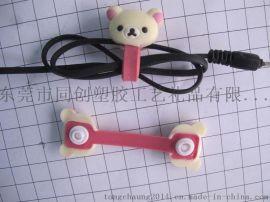 PVC軟膠耳機繞線器,軟膠卡通滴膠繞線器