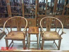 海南黄花梨圈椅实木椅