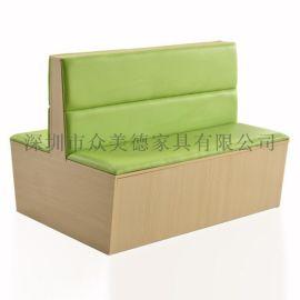 **餐厅定制家具|双面卡座沙发|防火板卡座厂家