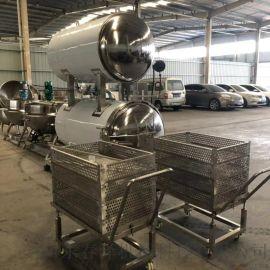 芦荟罐头不锈钢杀菌锅 蒸汽式杀菌锅
