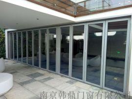 断桥铝合金折叠门折叠移门重型折叠门