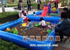 河南充气沙滩池海洋球组合亲子游乐设备**