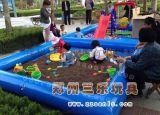 河南充氣沙灘池海洋球組合親子遊樂設備首選
