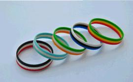 JW DIY定制分层硅胶手环硅胶手环