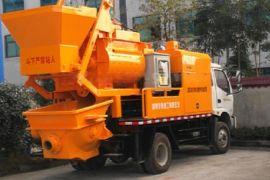 广东惠州搅拌车载泵 搅拌拖泵一体机 混凝土输送泵价格优惠