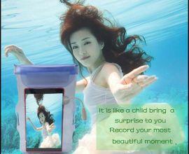 厂家直销 户外游泳潜水透明防水袋 pvc塑料触屏手机防水袋