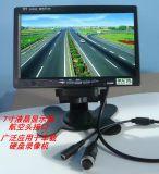 加尼鷹7003-H7寸車載顯示器 GX12/4芯航空頭介面 接大華/海康錄像機 高清車用視屏