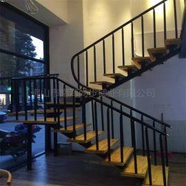 佛山尚步楼梯PVC楼梯扶手方箱龙骨室内楼梯