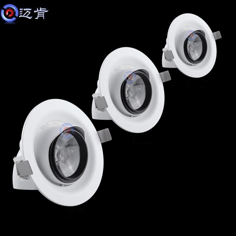 廠家直銷新款12w22w30投光壓鑄COB櫥窗服裝展廳背景牆象鼻led射燈