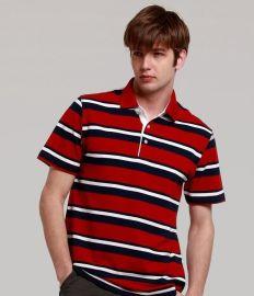 男士条纹短袖T恤