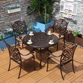 舒纳和FH014椅1桌铸铝桌椅厂家直销户外铝合金桌椅