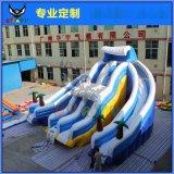 水上樂園戶外大型移動動漫水世界游泳池充氣冰雪滑梯