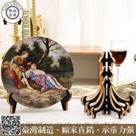 加厚8寸亚克力盘架奖牌展示架画框相框证书摆台货架礼品陶瓷工艺品摆件