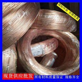 软态T2紫铜线/导电紫铜扁线厂家/轴装0.5mm紫铜丝批发